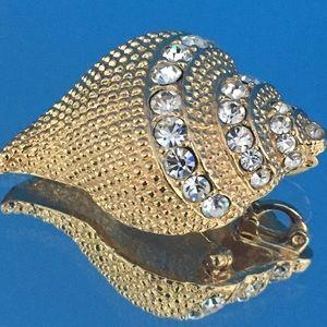 Vintage Kenneth Jay Lane Seashell Brooch/Pendant
